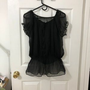 31478ba55f701 Macy s Tops - The little black top.. silk peasant style camisole